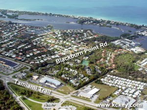 Blackburn Point Road leads to Casey Key